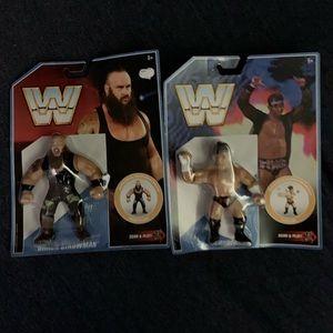 Set of 2 brand new WWE retro wrestling figures